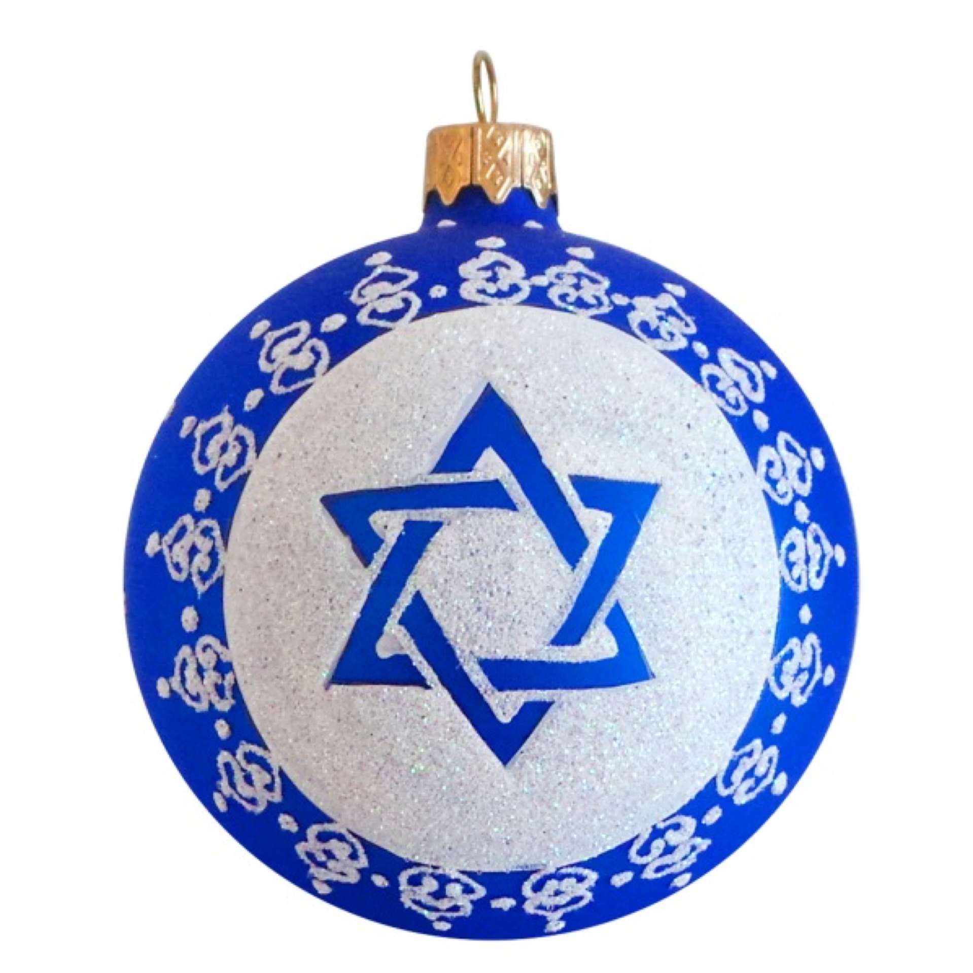 Star of David Jewish Glass Ball Ornament | Glass ball ...