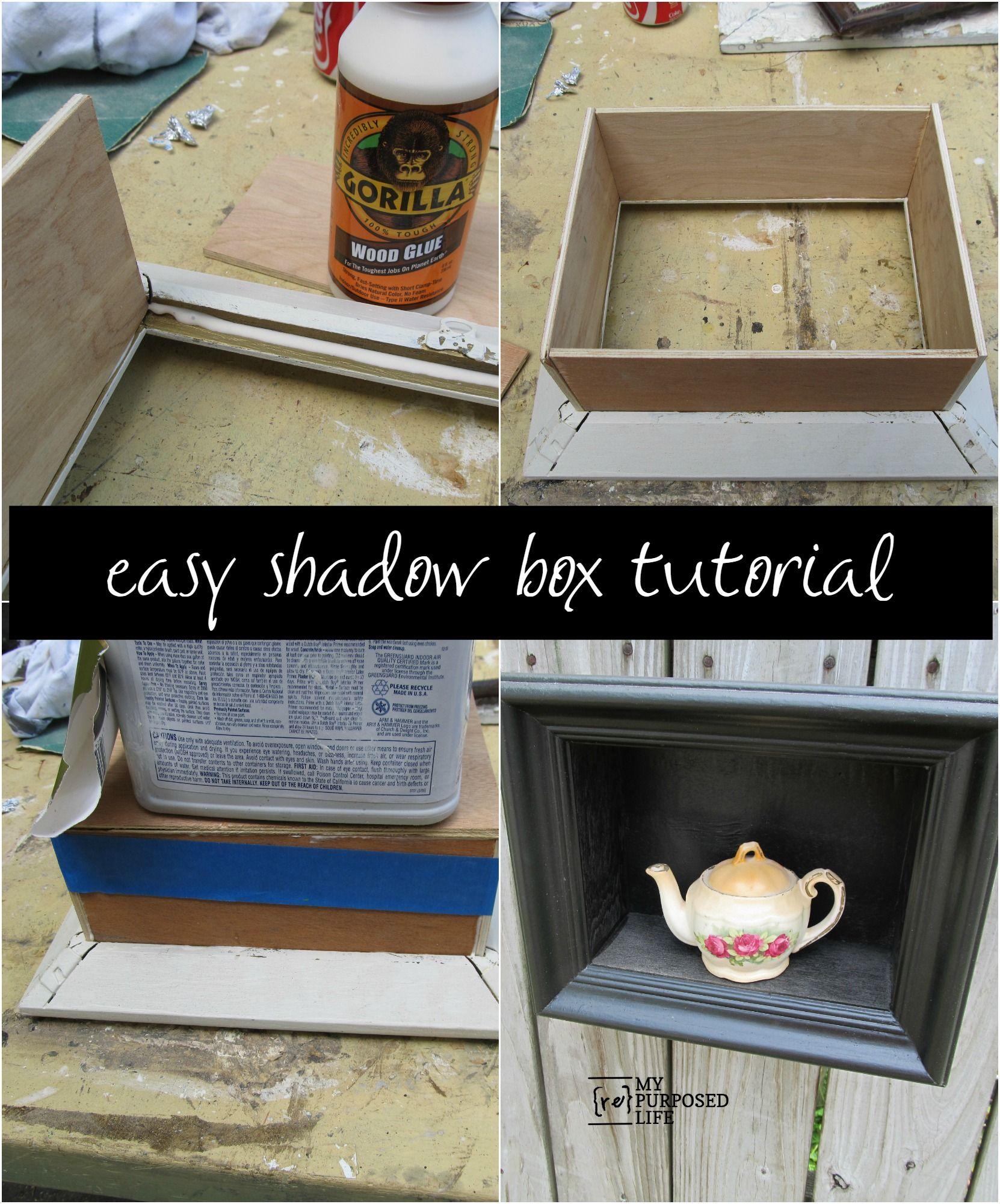 diy shadow box frame projects diy shadow box shadow. Black Bedroom Furniture Sets. Home Design Ideas