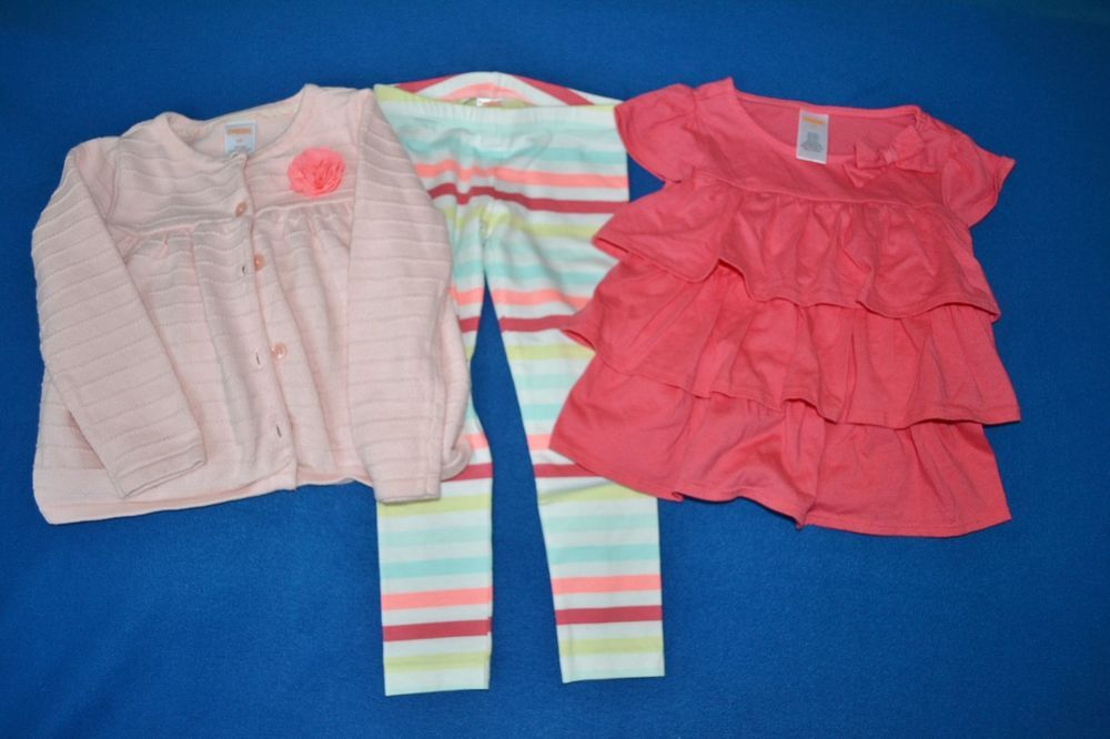 EUC Gymboree 3T Girl's Three Piece Spring/Summer Outfit Set
