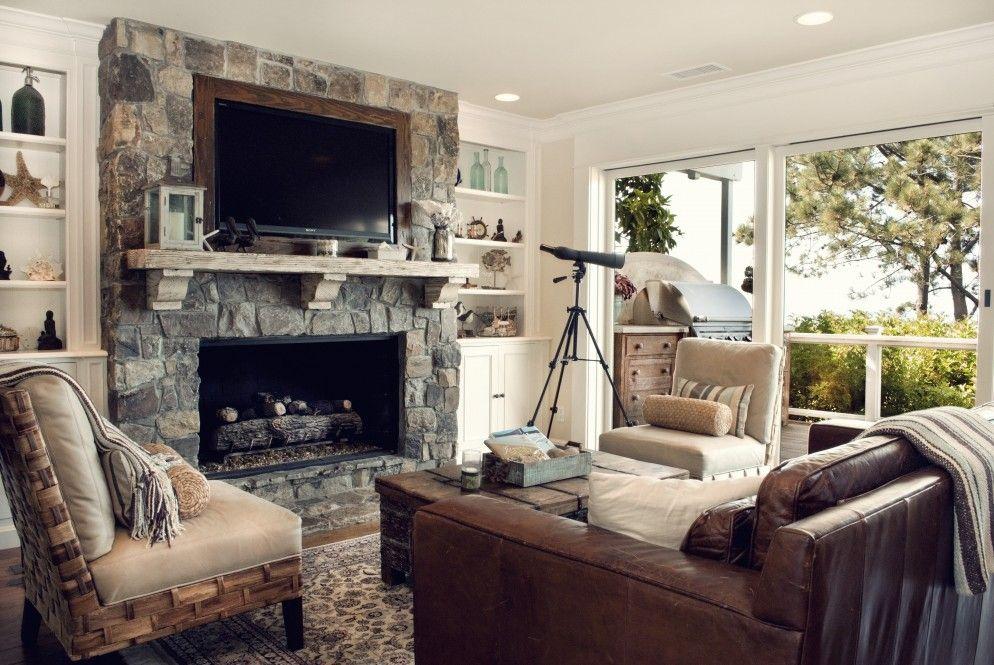 Capo Beach Living Room Stone Fireplace Surround