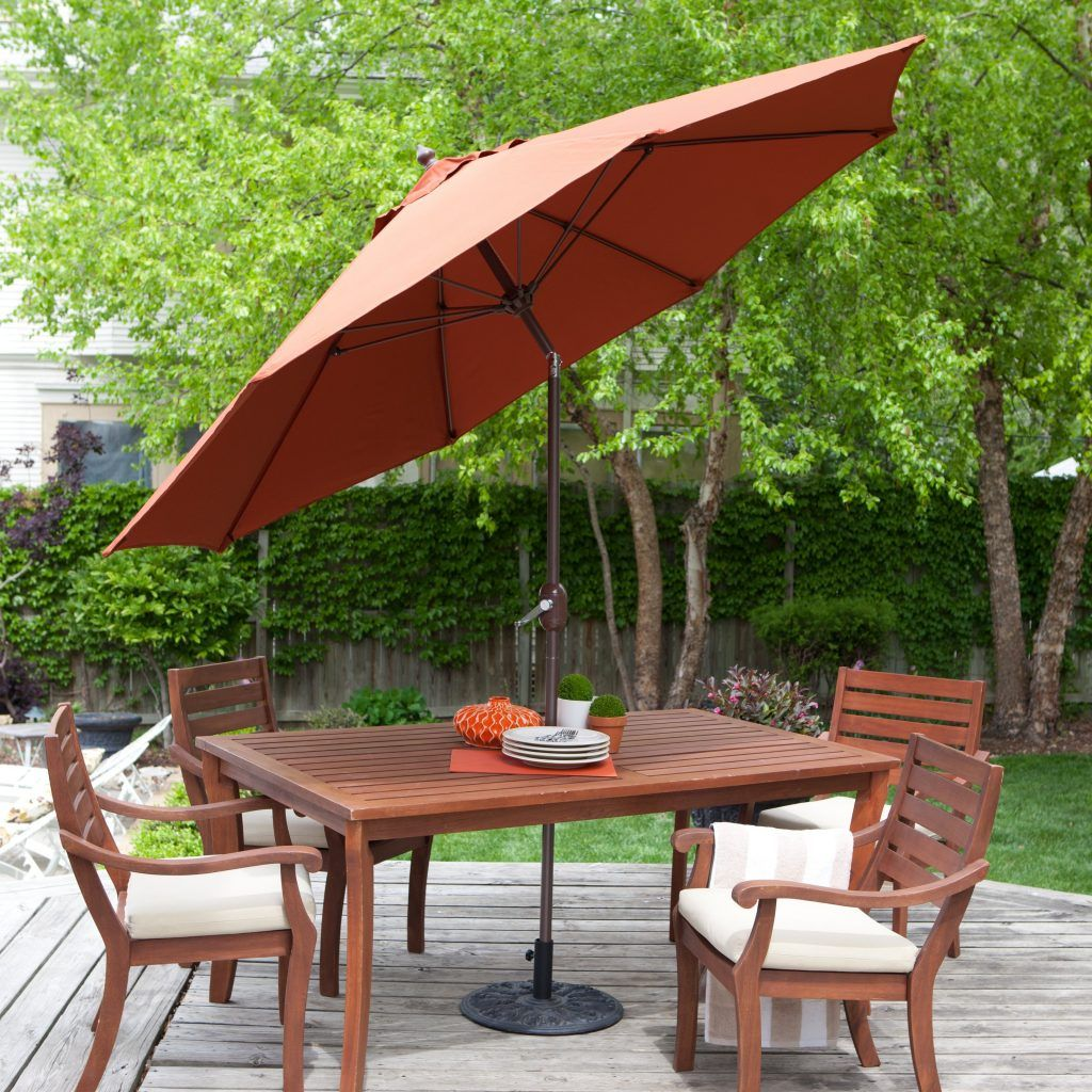 Rectangular Patio Umbrella Coral Coast 9 Ft. Sunbrella Deluxe Tilt Aluminum Patio  Umbrella
