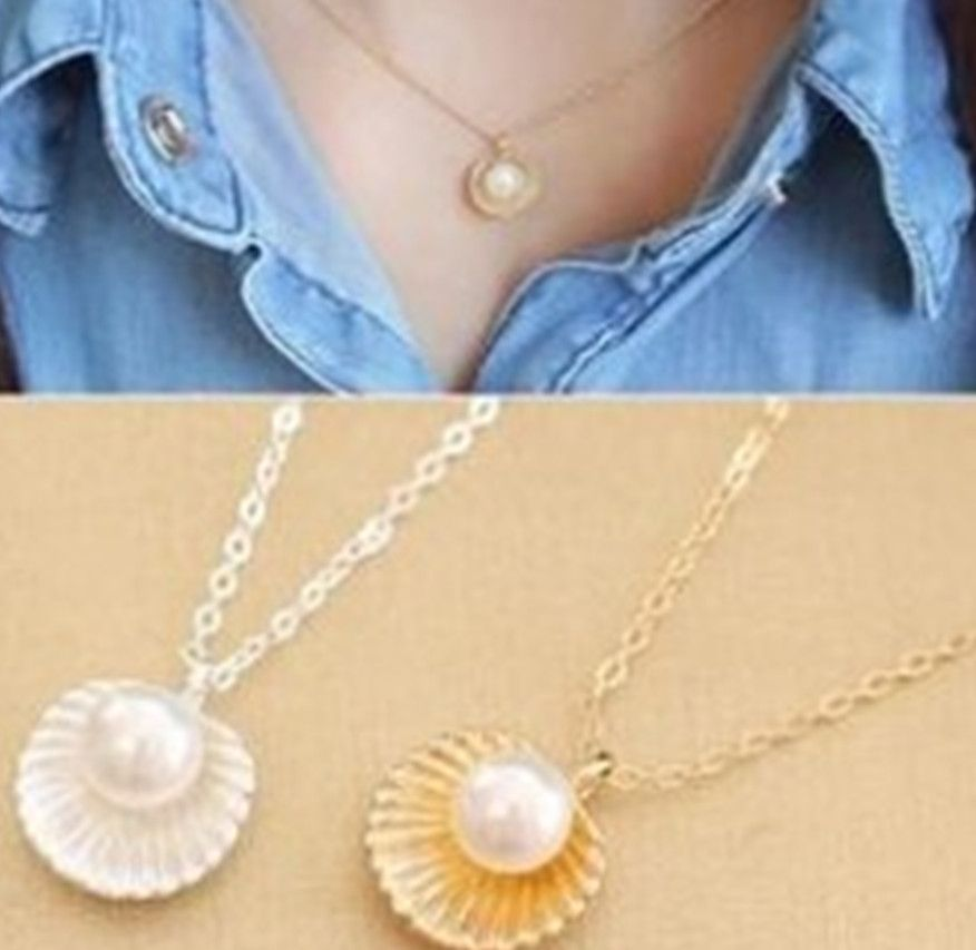 MMC Womens Necklaces Pendants Pearl Ruby Cute Jewelry Charm Party Silver Jewelry