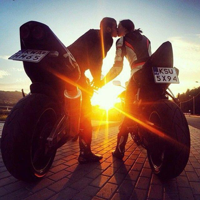 Cute Engagement Shoot Motocross Engagement Photoshoot