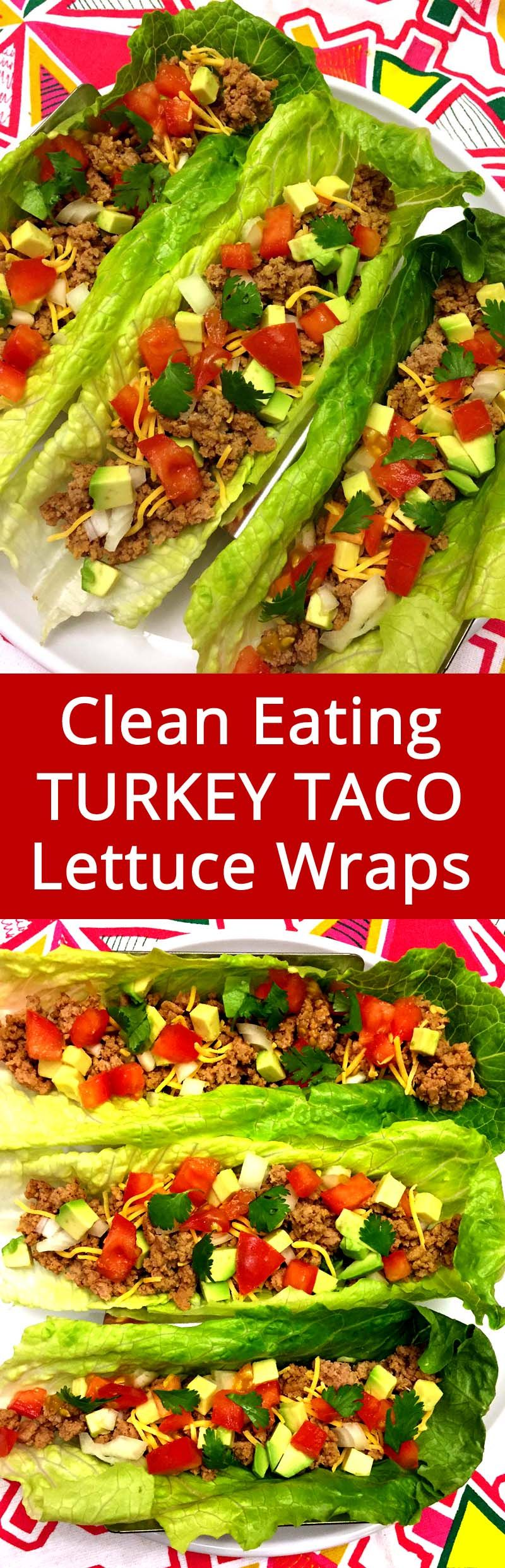 Healthy Turkey Taco Lettuce Wraps #groundturkeytacos