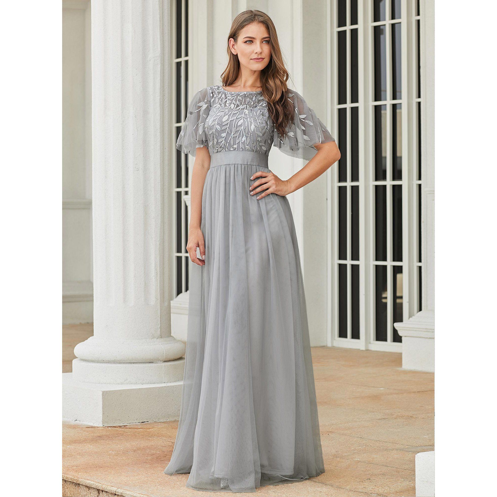 Ever Pretty Ever Pretty Womens Plus Size Bridesmaid Dresses For Women 00904 Grey In 2021 Evening Dresses Long Bridesmaid Dresses Plus Size Beautiful Evening Dresses [ 2000 x 2000 Pixel ]