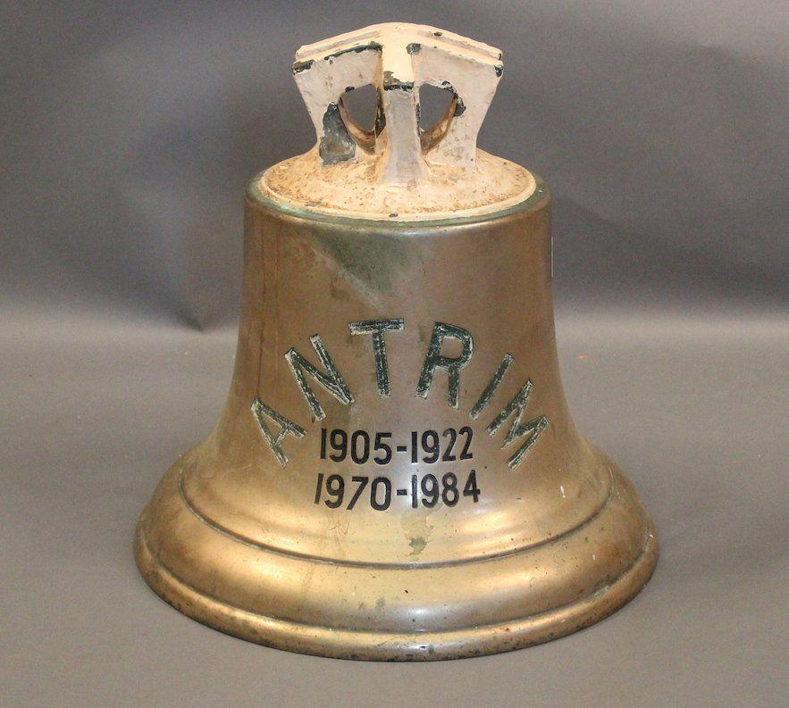 British Royal Navy Ship S Bell Hms Antrim Nov 16 2014 Boston Harbor Auctions In Ma Royal Navy Ships Royal Navy Navy Ships