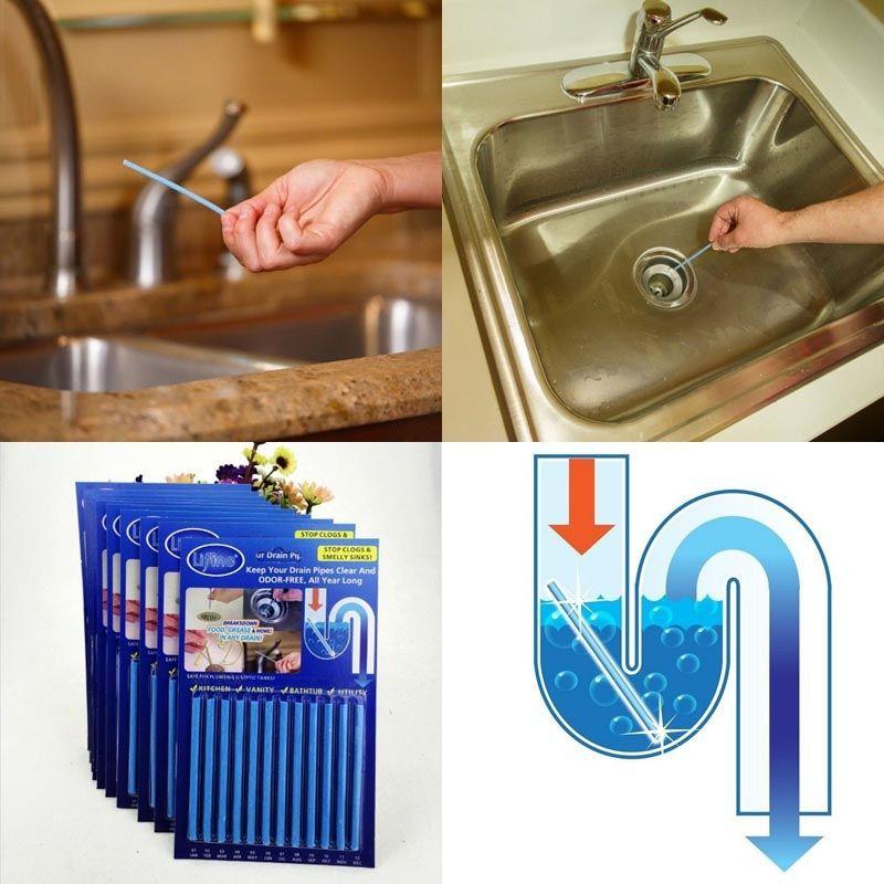 12Pcs/set Sani Sticks sewage decontamination to deodorant ...