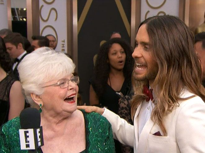 "The Oscars' 10 Most Unforgettable Quotes |  | ""I just want to put the rumors to rest: we are indeed dating.""""Our evening in Santa Barbara was great.""– Jared Leto and Nebraska's June Squibb stirring rumors of a romance to Ryan Seacrest on the red carpet"