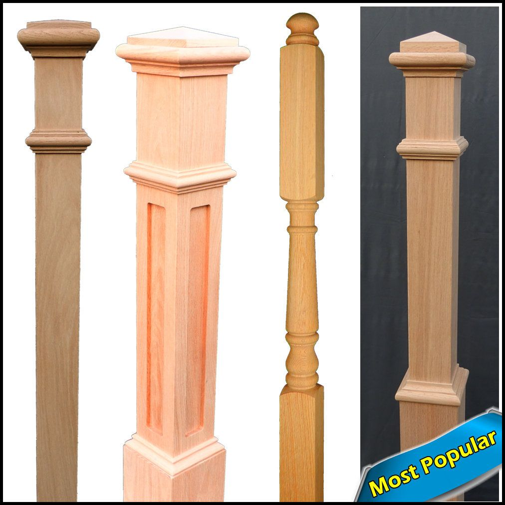 Red Oak Newel Posts- Posts For Stairs