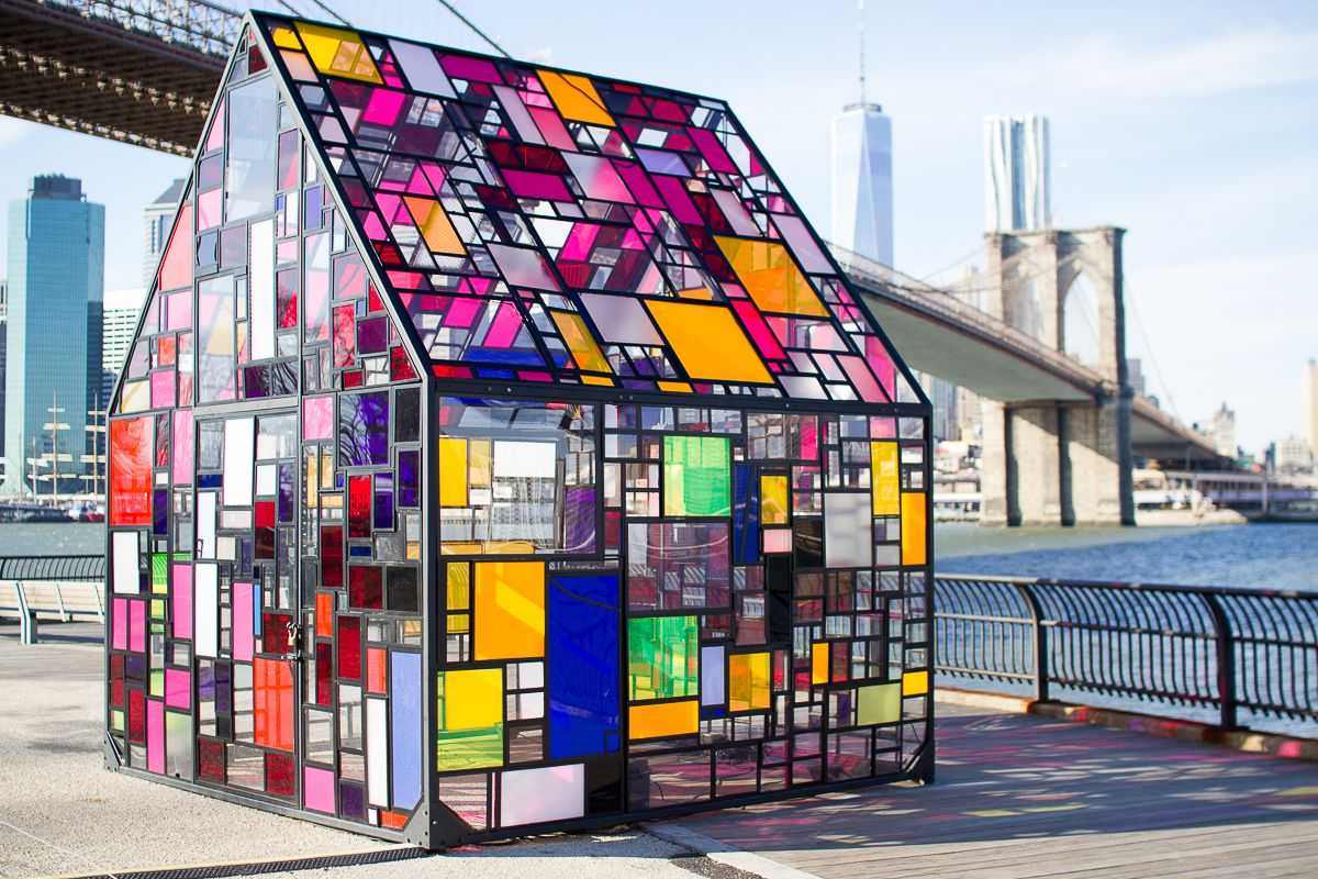 Superior Tom Fruin Stained Glass House Pictures Gallery