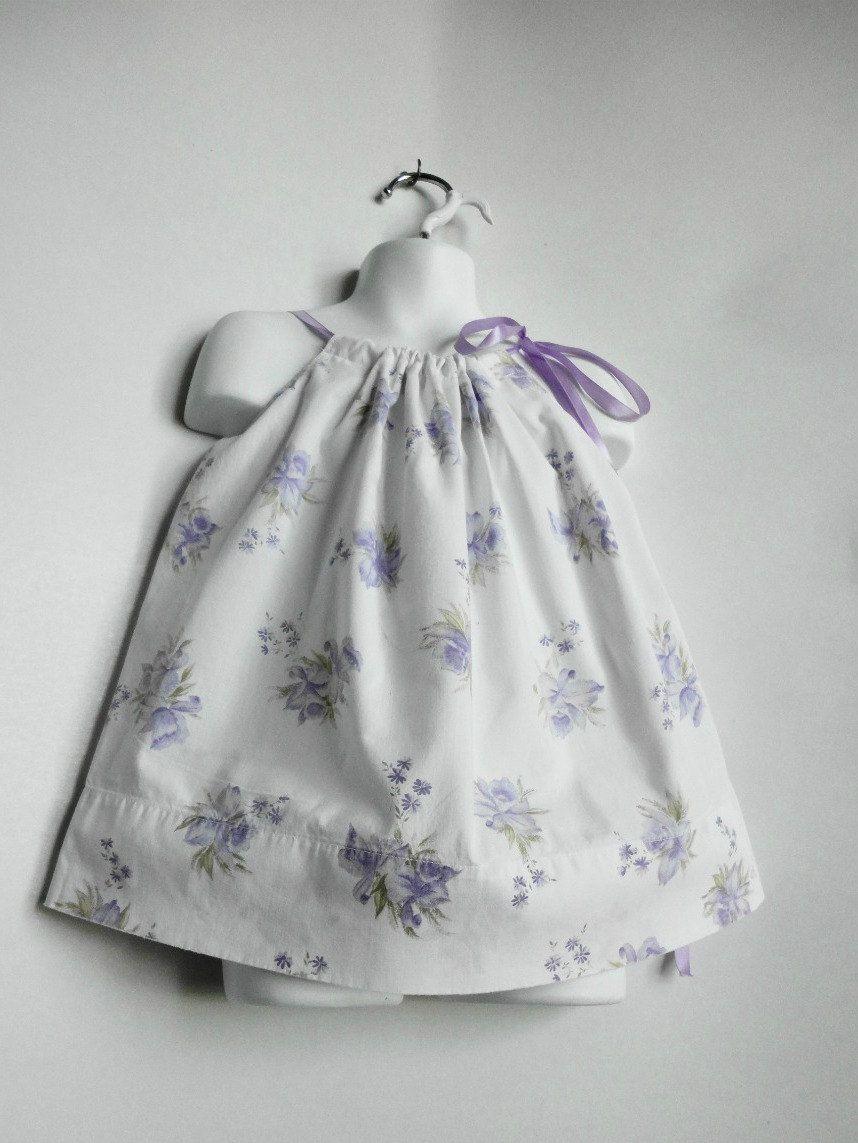 Upcycled Baby Clothing. Pillowcase Dress. Little Girls Dress. Easter ...