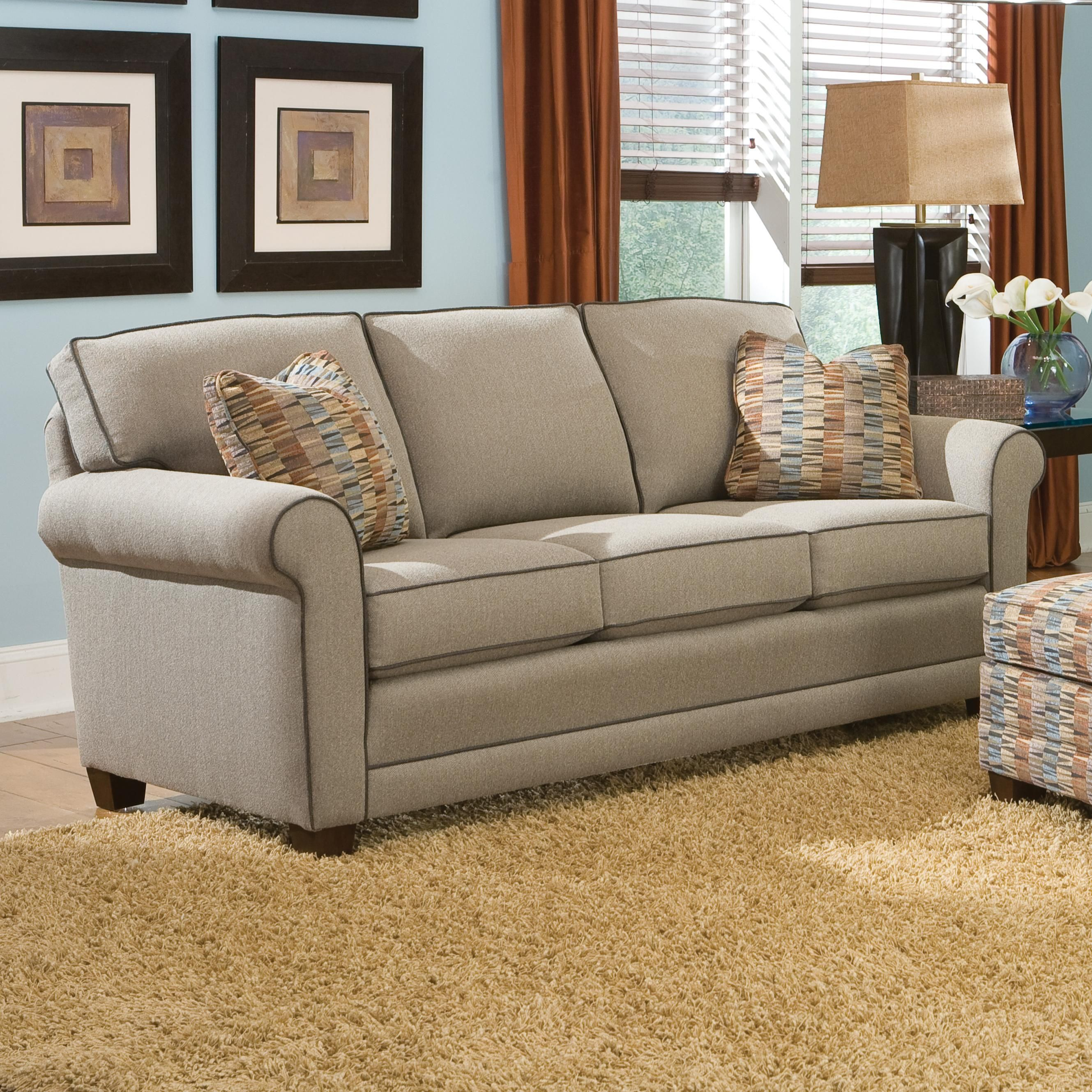 Incroyable 366 Casual Stationary Sofa With Rolled Arms By Smith Brothers   Wolf  Furniture   Sofa Pennsylvania