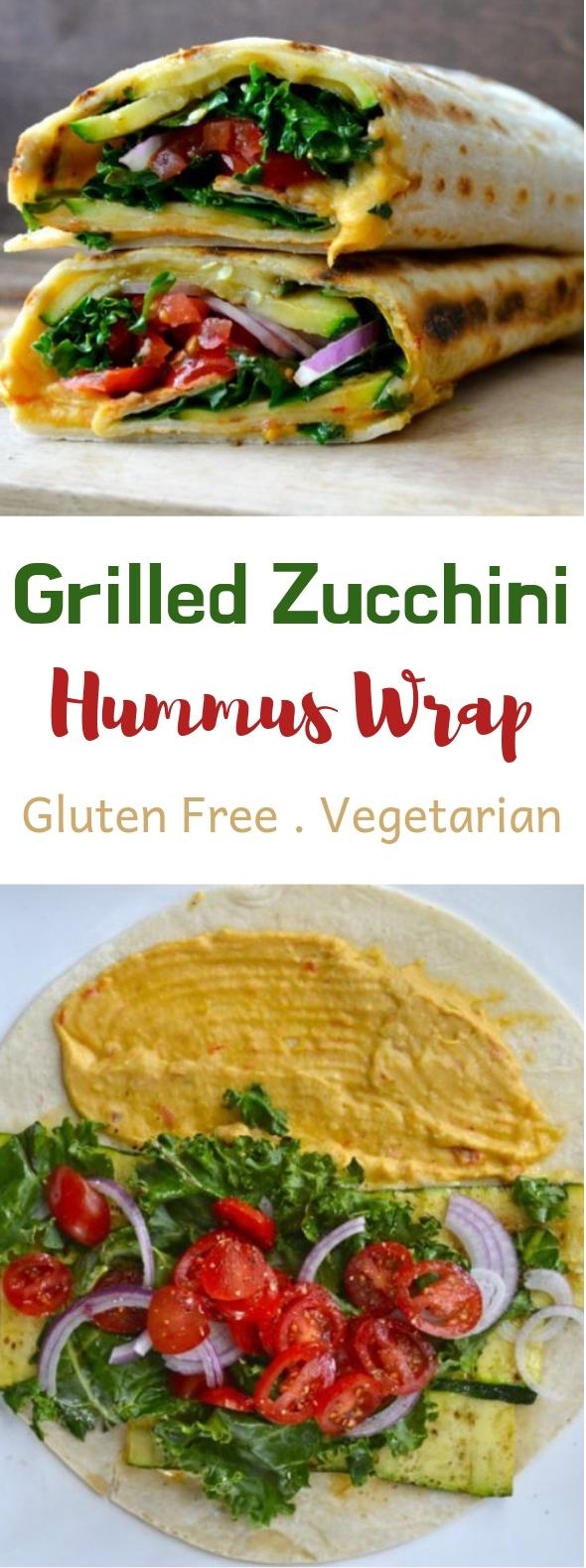 Photo of Grilled zucchini hummus wrap #vegan #wraps