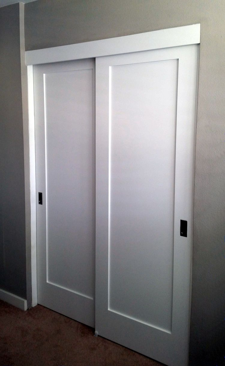 Hallway closet door  Panel Louver and Flush Doors  Repurposed  Pinterest  Flush