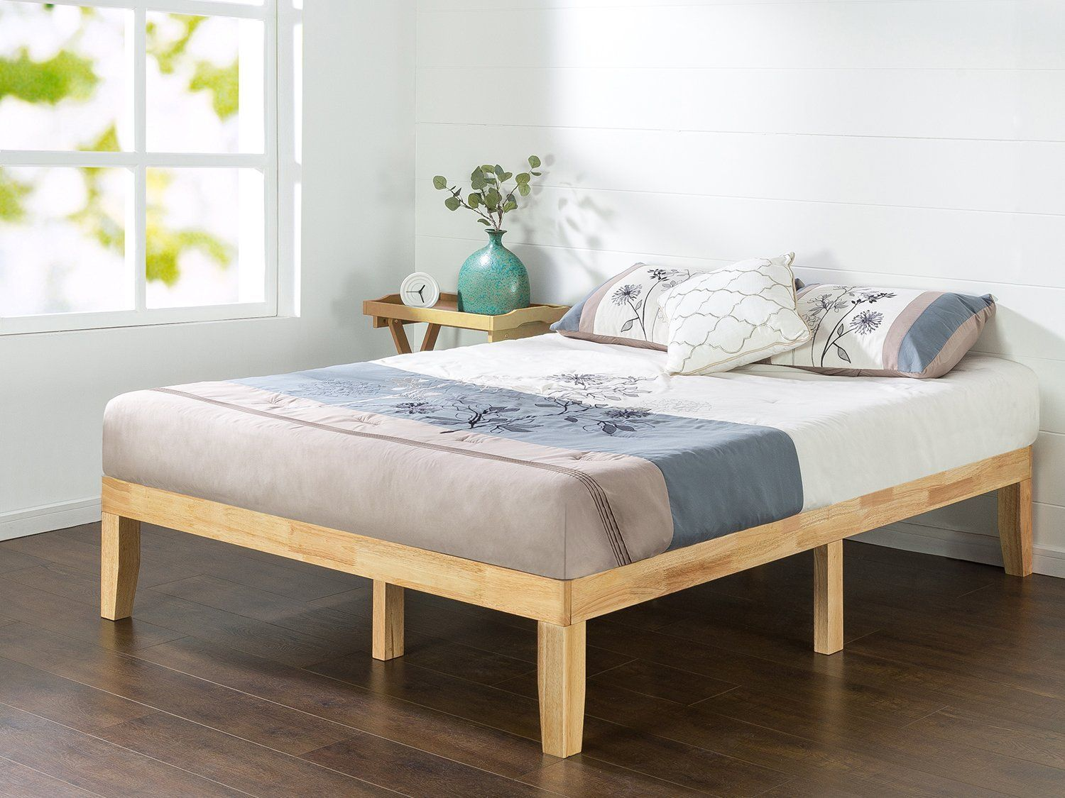 Amazon zinus inch wood platform bed no boxspring needed