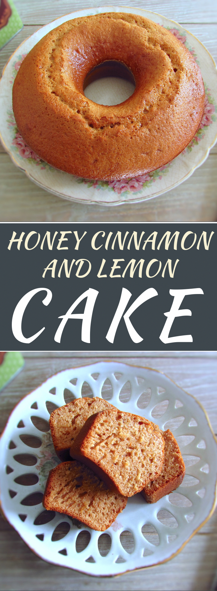 Honey cinnamon and lemon cake | Food From Portugal. Drink a hot chocolate on a winter afternoon ser