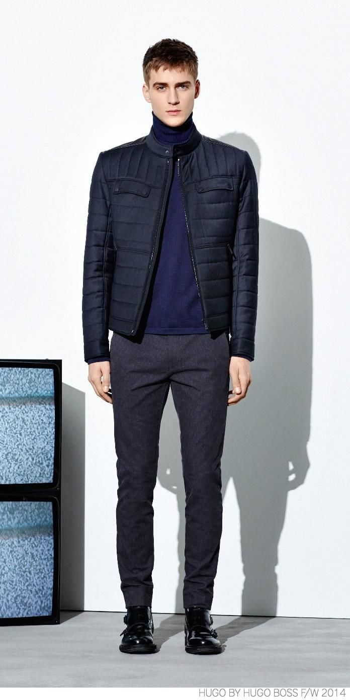 Tap into refined, elegant style with a navy blue quilted bomber jacket and dark grey wool dress pants. Round off this look with black leather double monks.   Shop this look on Lookastic: https://lookastic.com/men/looks/navy-bomber-jacket-navy-turtleneck-charcoal-dress-pants/15659   — Navy Turtleneck  — Navy Quilted Bomber Jacket  — Charcoal Wool Dress Pants  — Black Leather Double Monks