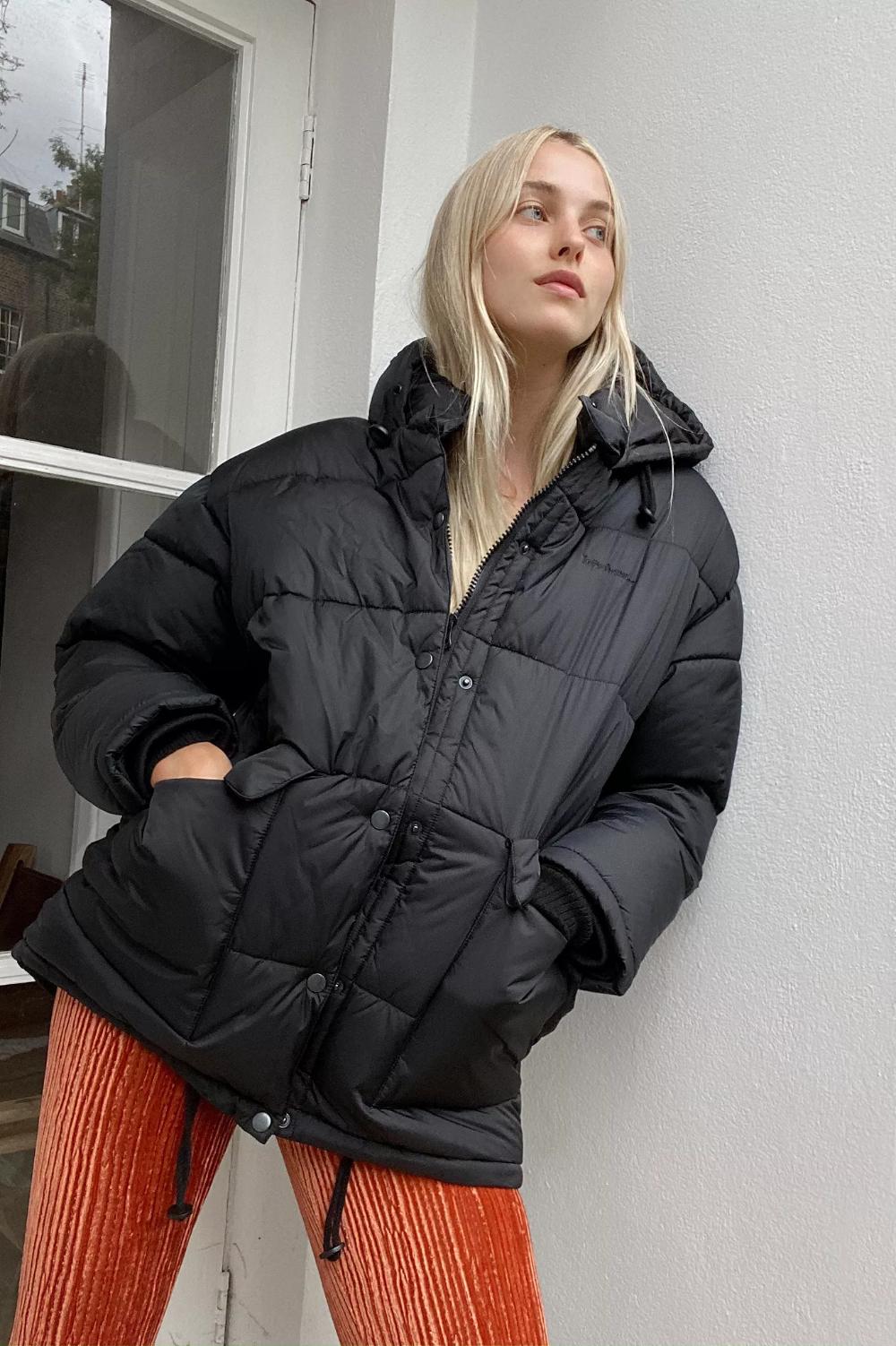 Iets Frans Hooded Midi Puffer Jacket Puffer Jacket Women Jackets Black Puffer Jacket [ 1502 x 1000 Pixel ]