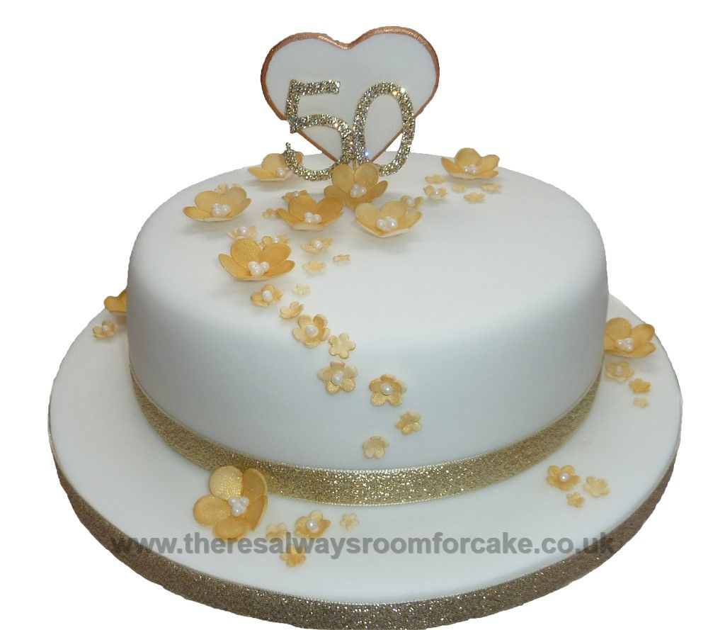 50th anniversary wedding cakes 50th golden wedding anniversary cake cakes 1134
