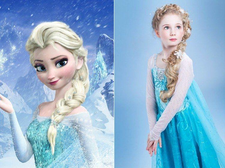 Marchenhafte Frisur Von Elsa Elsa Haar Frisuren Frisur Hochgesteckt
