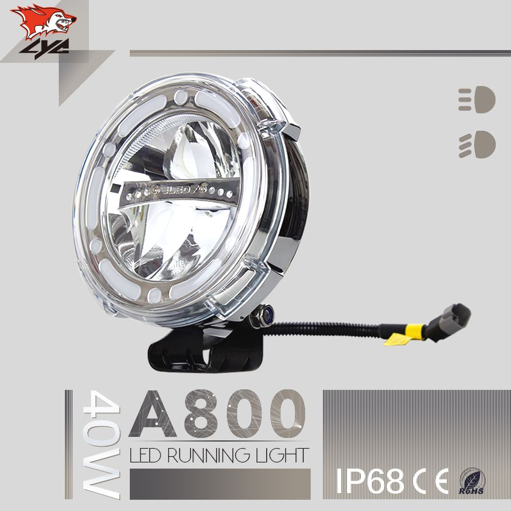 Lyc 800mm Driving Lights 7inch Round Headlight Black Case Automotive Led Construction Vehicles S Led Driving Lights Led Headlights Cars Motorcycle Led Lighting