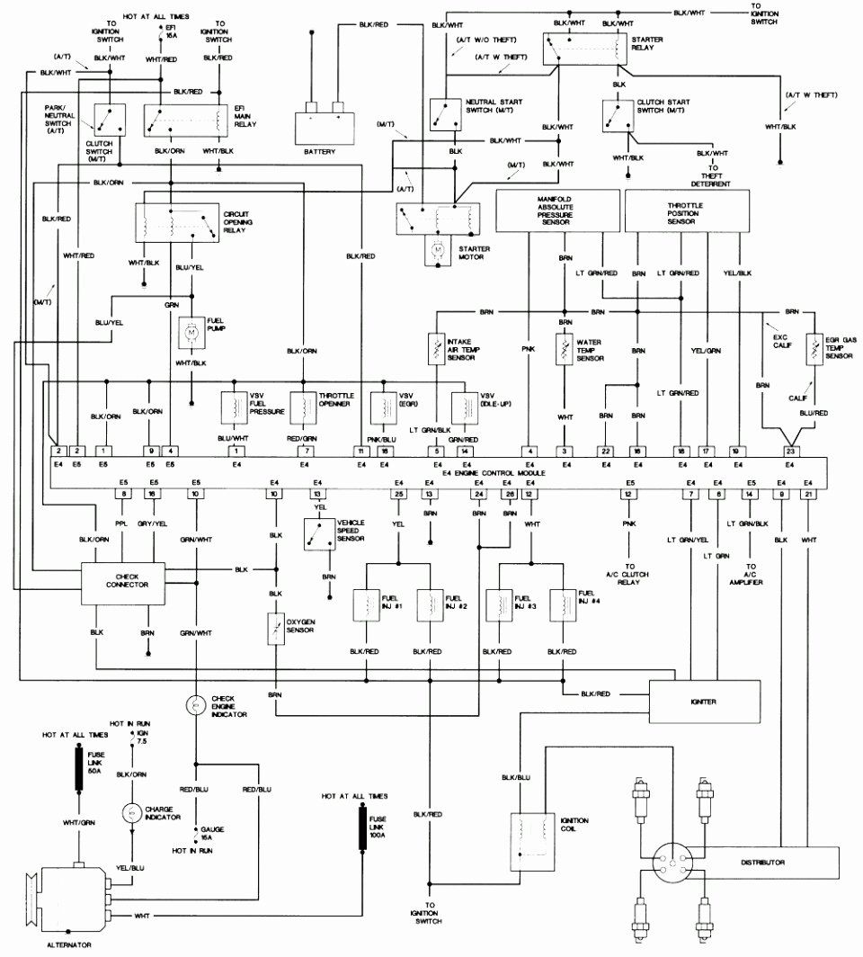 Toyota Corolla Wiring Diagrams Inspirational Enchanting