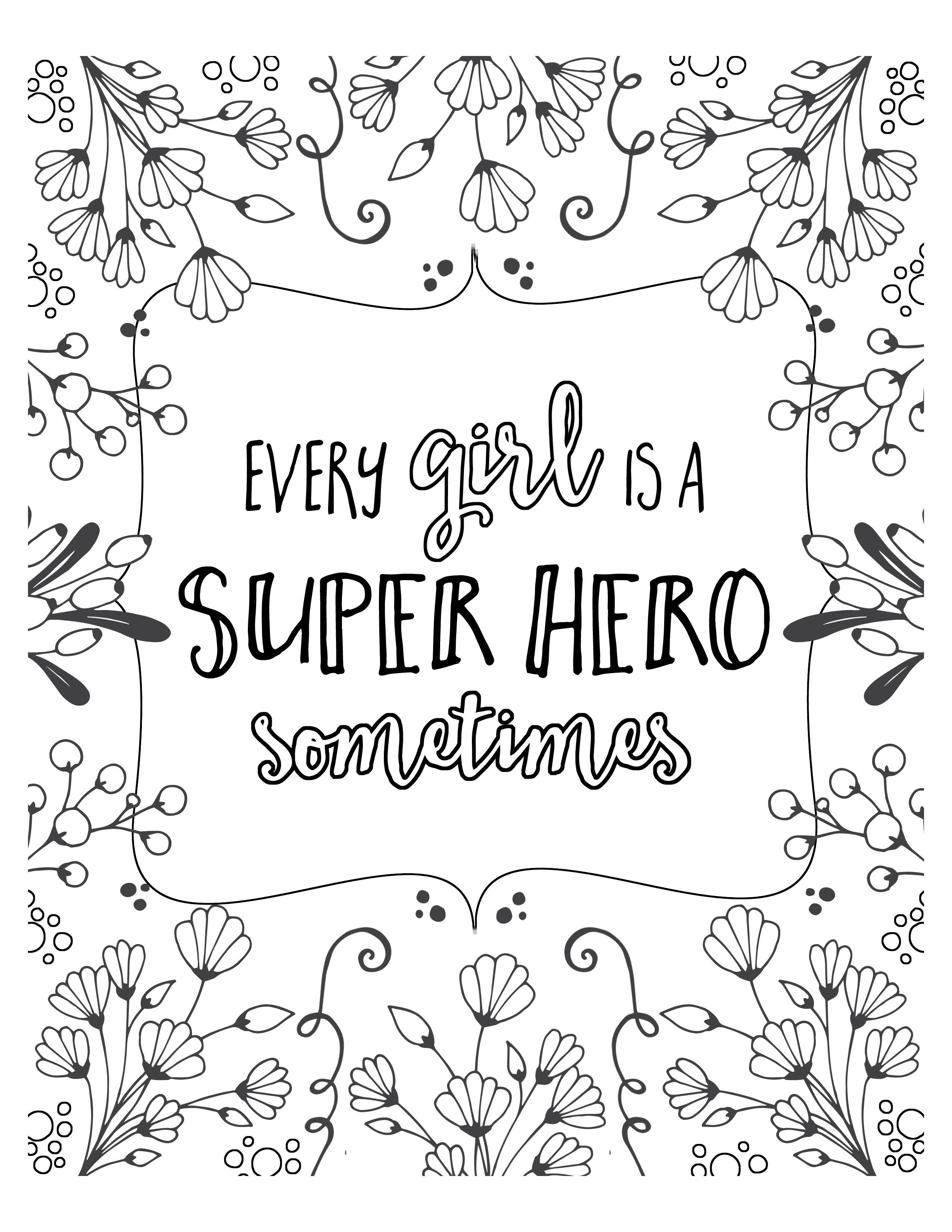 Free Super Hero Coloring Pages Let S Diy It All With Kritsyn Merkley Quote Coloring Pages Free Coloring Pages Coloring Pages For Kids