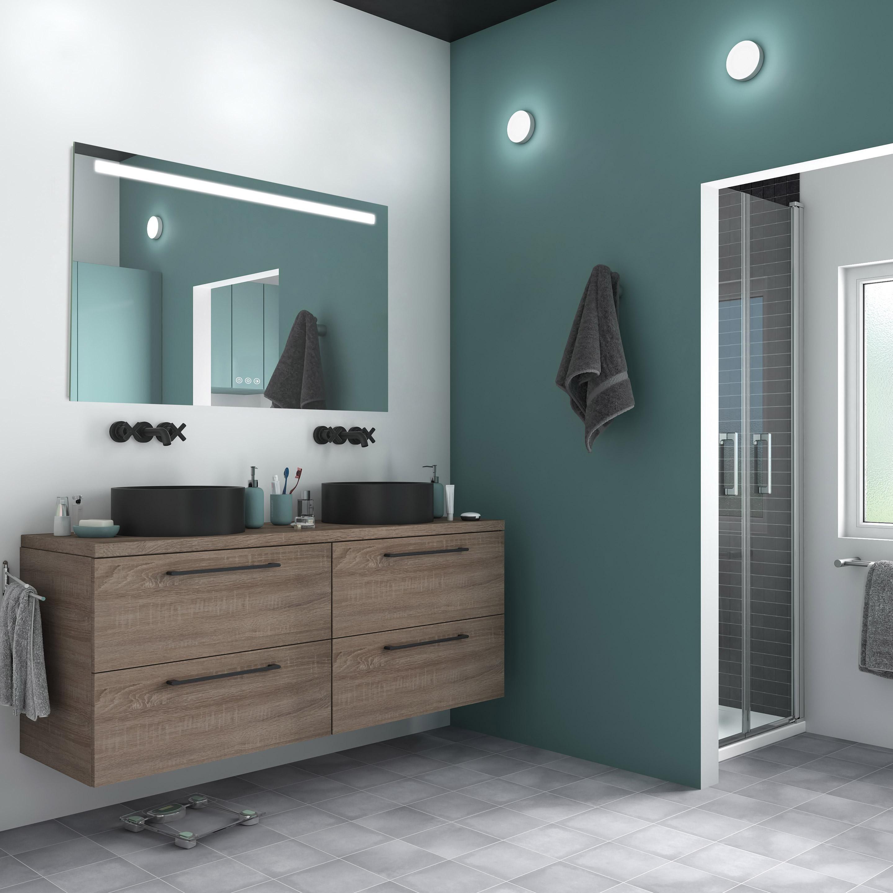 Miroir Lumineux Avec Eclairage Integre L 120 X H 70 Cm Remix Sensea Miroir Lumineux Miroir Lumineux Salle De Bains Et Miroir