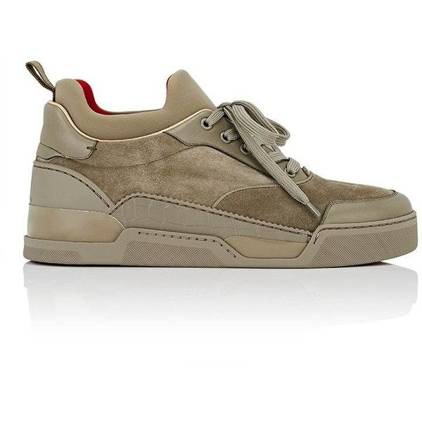 d5d71ddb91ef ... low cost christian louboutin mens aurelien flat mixed material sneakers  6370 cny liked on 82c47 9d94e
