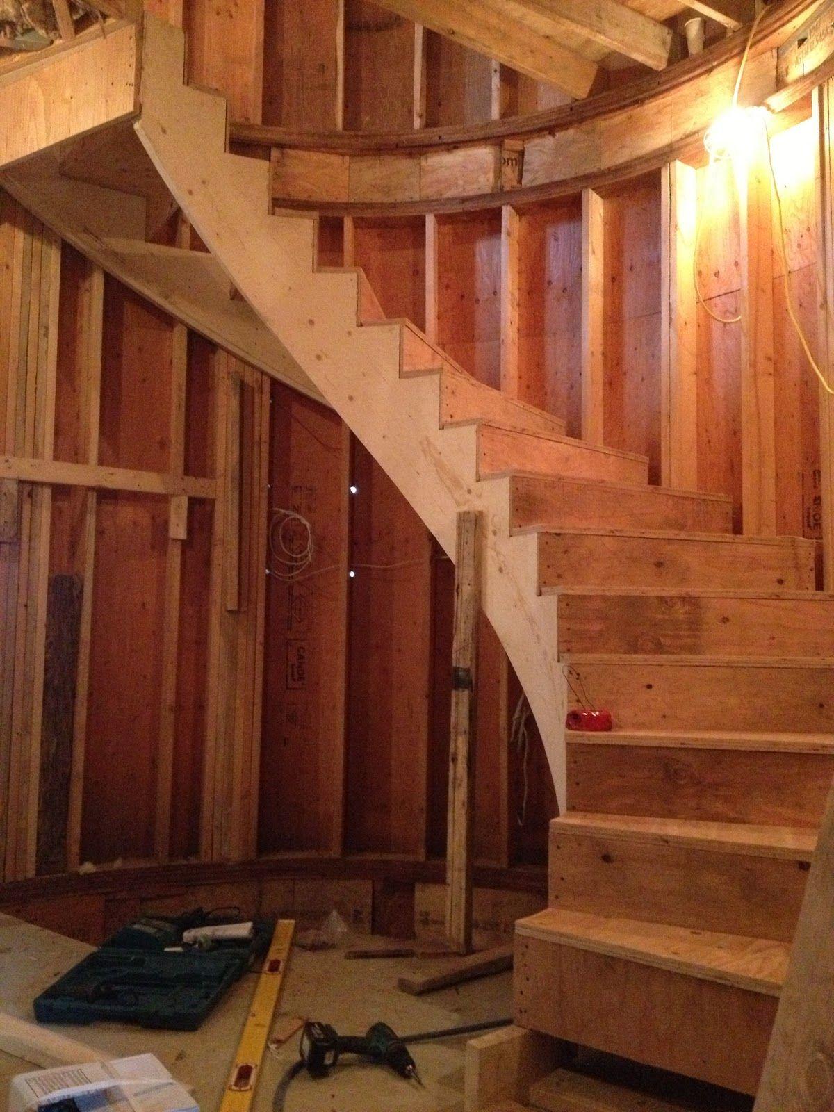 Best Cypress House Spiral Stairs Framing Stairway Design 400 x 300