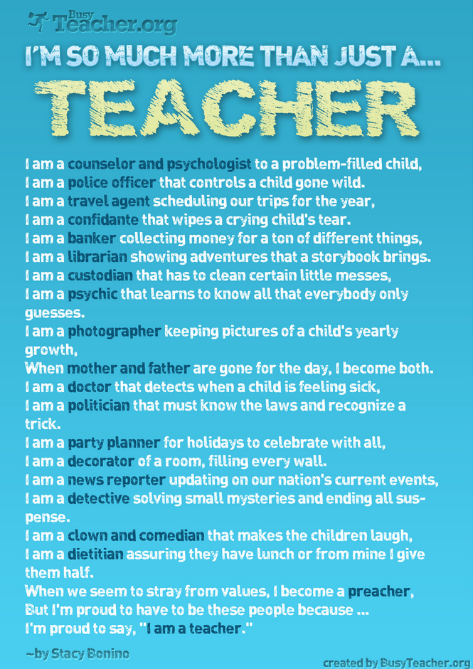 I AM so much more than just a teacher.
