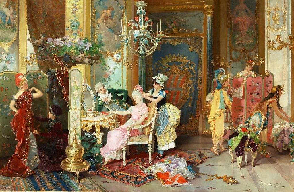 The Costume Ball jigsaw puzzle Fine art painting