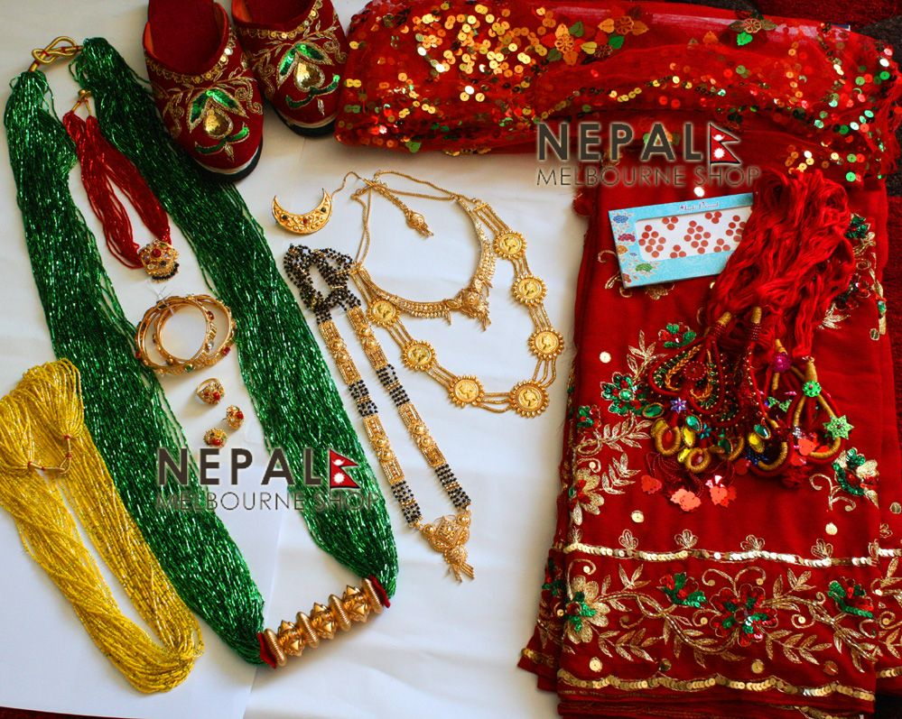 Nepali bridal set nepal pinterest bridal sets nepal and buckets nepali bridal set junglespirit Image collections