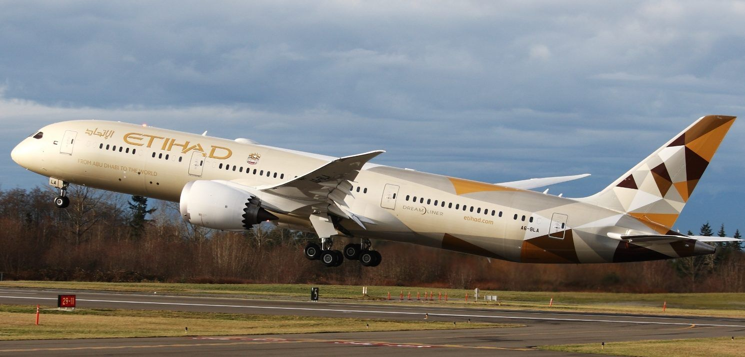 Etihad Airways Flights BookMySeat Boeing 787