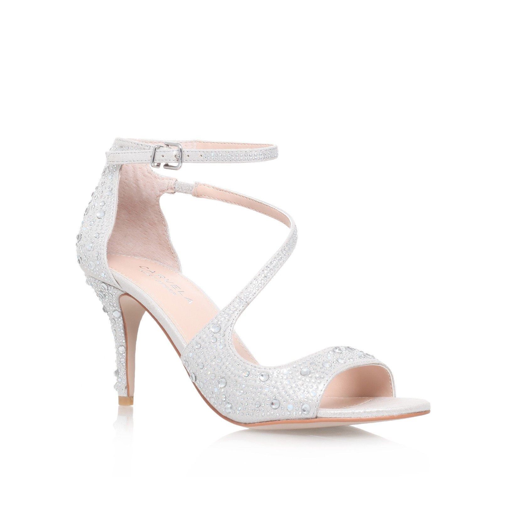 gamma, silver shoe by carvela kurt geiger - women shoes party shoes &  occasion. Silver High Heel SandalsSilver ...