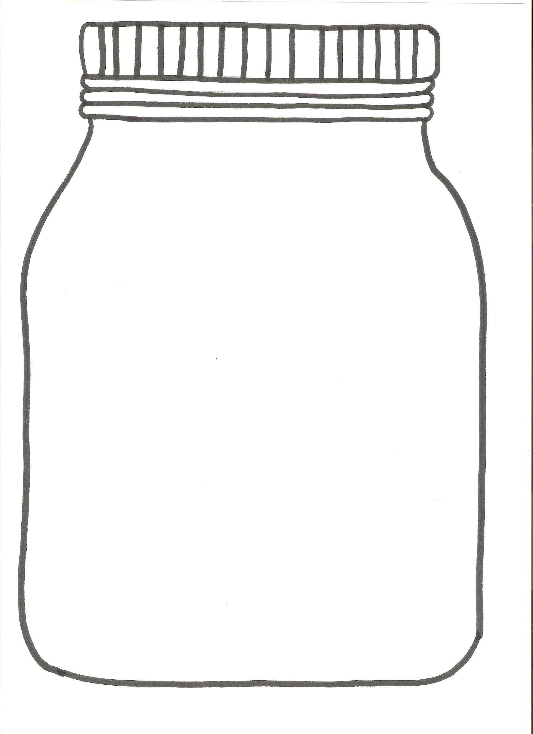 Открытка баночка шаблон, открытка днем рождения