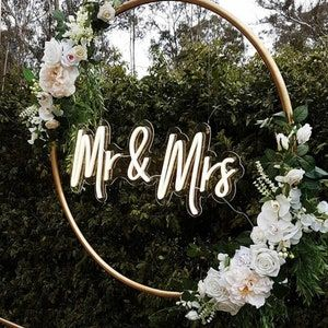 Wedding Reception Neon Sign Wedding Backdrop Decoration Sign   Etsy
