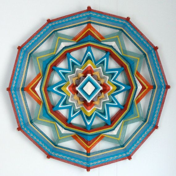 Happy Forest Walk, an 18 inch, all wool yarn, Ojo de Dios, by custom order