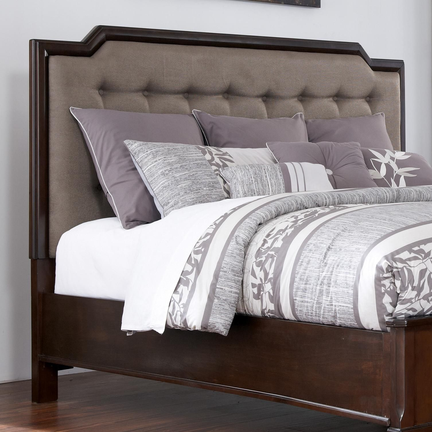 Levitz Bedroom Furniture Larimer Queen Upholstered Headboard By Ashley Millennium Sawyer