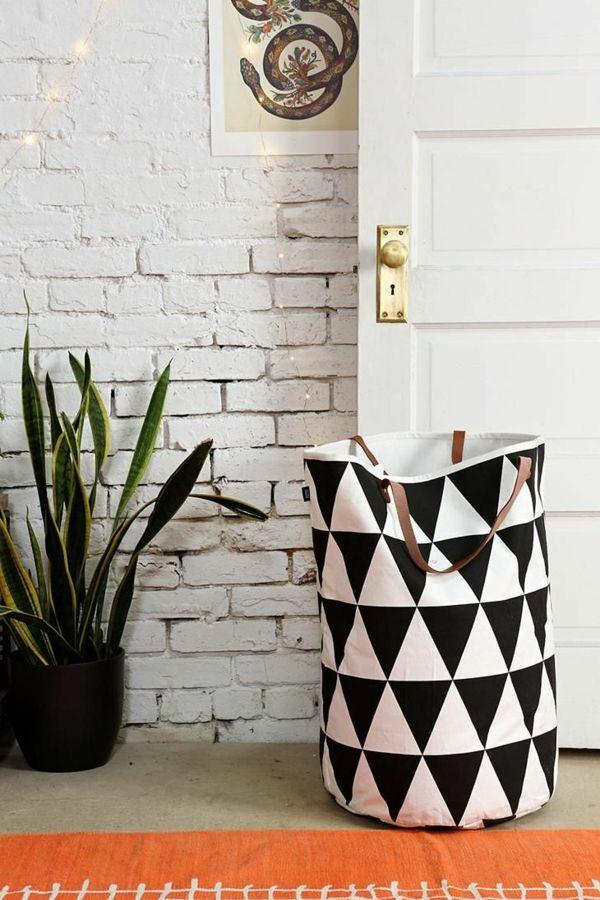 der richtige w schekorb in der waschk che clevere einrichtungsideen h uschen und wohnideen. Black Bedroom Furniture Sets. Home Design Ideas