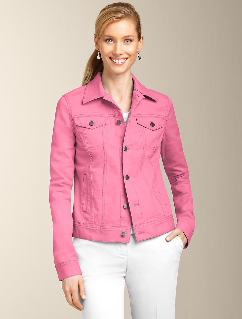 Talbots - Colored Denim Jacket | Jackets | Petites | JACKETS ...