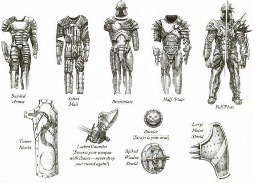 D&D 3rd Edi armor