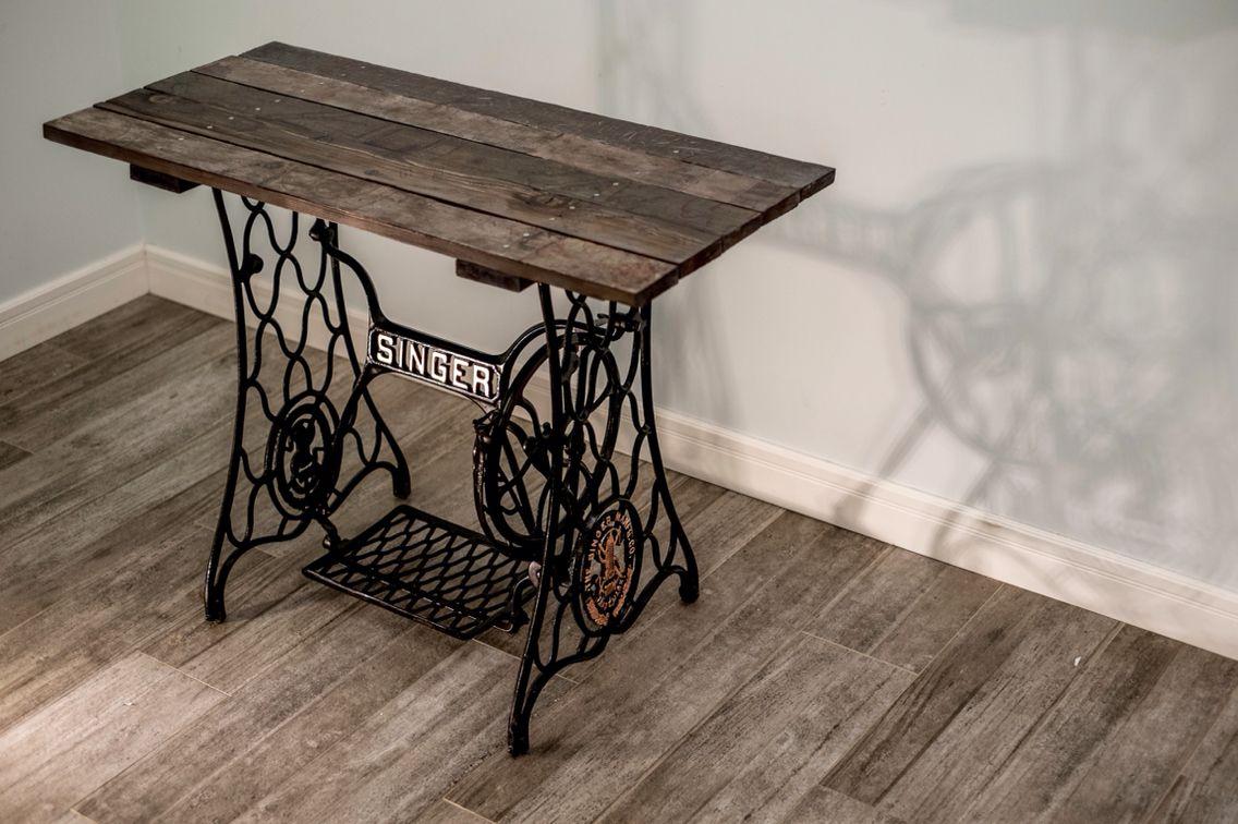столик из швейной машинки зингер фото милая
