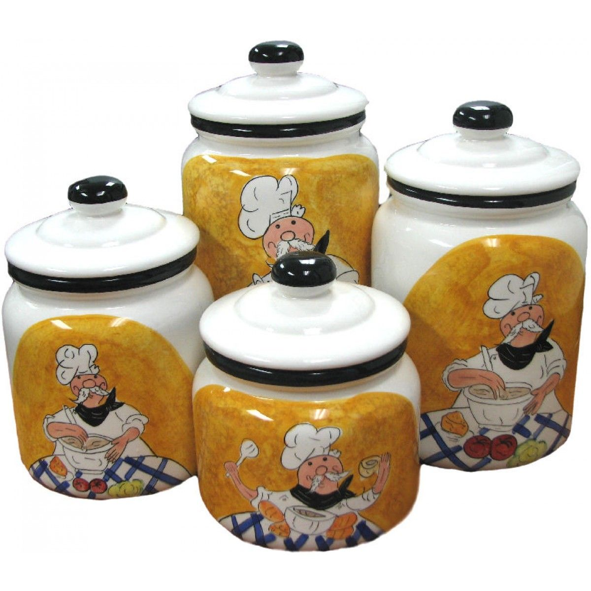 Canister Sets | ... In Our French Chef Inspired 4 Piece Canister Set These. Coffee  Theme KitchenBistro ...