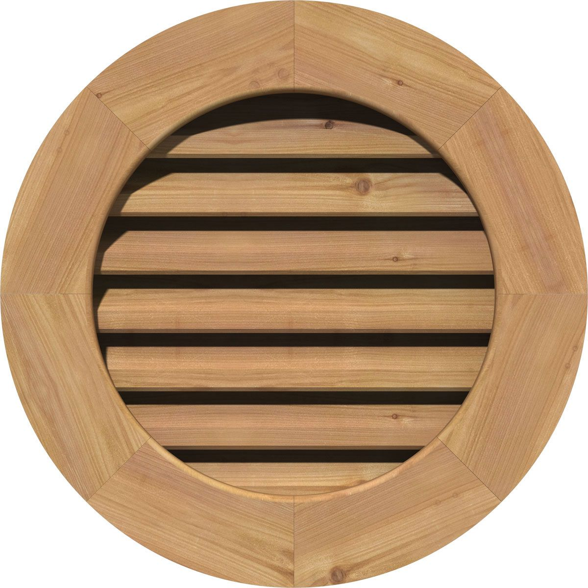 12 Inch W X 12 Inch H Round Gable Vent 17 Inch W X 17 Inch H Frame Size Unfinished Non Functional Rough Sawn Western Red Cedar Gable Vent W Decorative Fac With Images Gable Vents