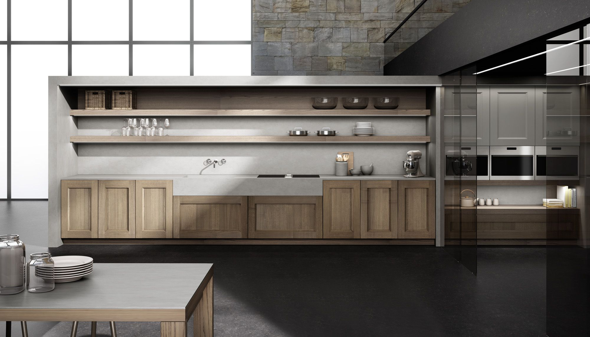 Cocinas Europeas Neolith By Thesize And Doca In Synergy At Eurocucina