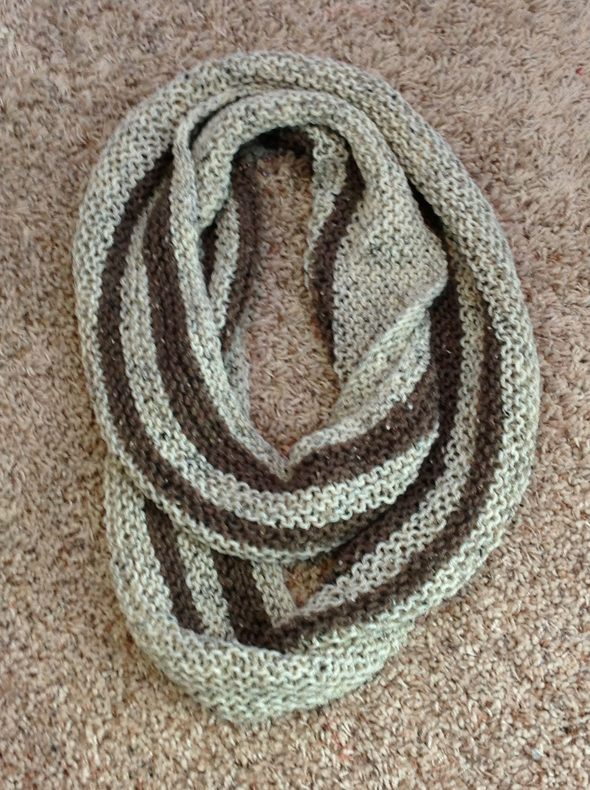 Super Long Knit Infinity Scarf | Sparkling City Crochet ...