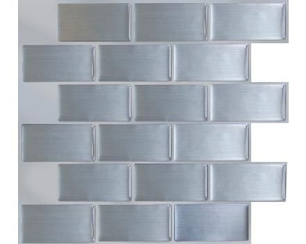 Peel Impress Steel Subway Vinyl Wall Tile Canadian Tire Vinyl Wall Tiles Primitive Kitchen Peel And Stick Wallpaper