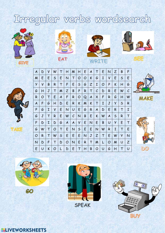 Past participle irregular verbs interactive worksheet