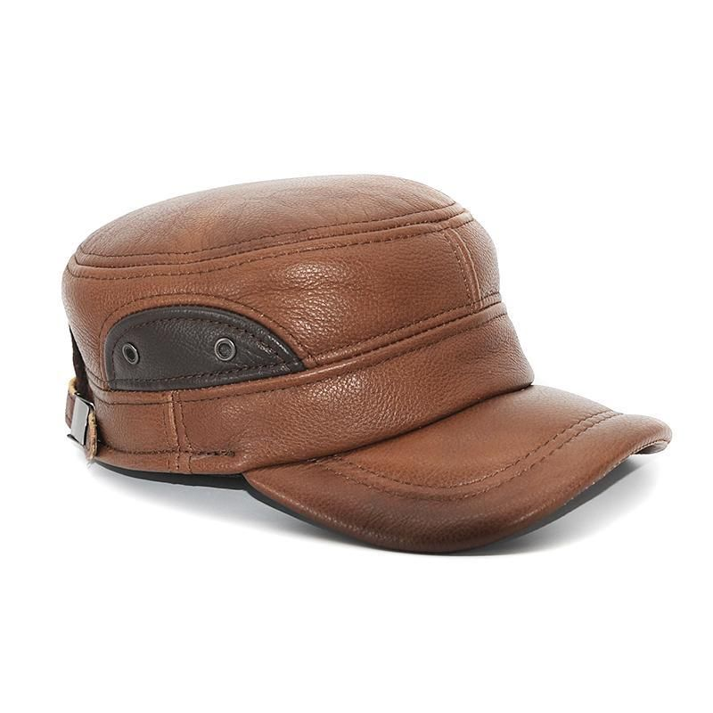 Men Sport Women Sport Baseball Handmade Hat Men Leather hat- Women Leather Hat Sheepskin Hat Tan Color Handmade Sports Hat